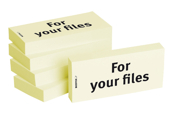 "BIZSTIX® Business Haftnotizen ""For your files"""