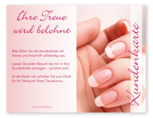 "Kundenkarte ""french nails"""