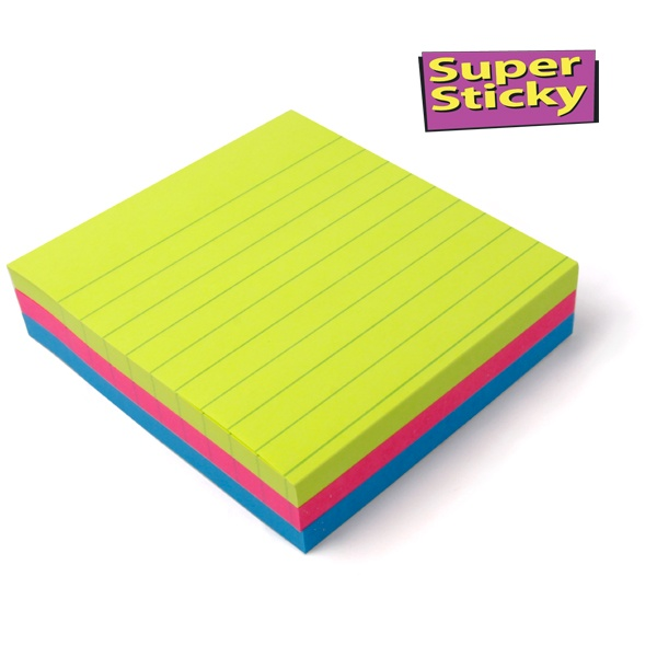 Post-it® Signal Notes liniert 3 Blöcke
