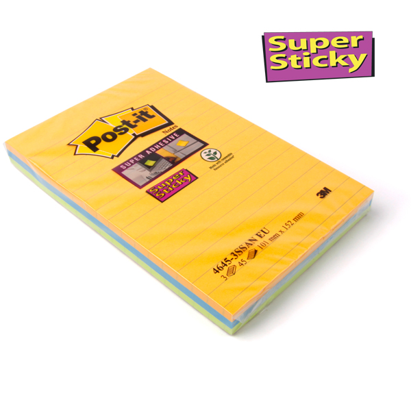Post-it® Signal Notes liniert 101 x 152 mm